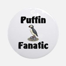 Puffin Fanatic Ornament (Round)