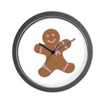Pink Ribbon Gingerbread Man S Wall Clock