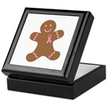 Pink Ribbon Gingerbread Man S Keepsake Box