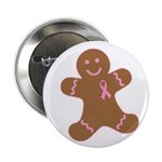 Pink Ribbon Gingerbread Man S 2.25