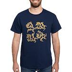 Golden Horses Batik Dark T-Shirt