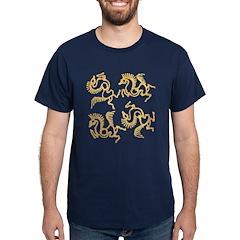 Golden Horses Batik T-Shirt