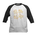 Golden Horses Batik Kids Baseball Jersey