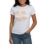 Golden Horses Batik Women's T-Shirt