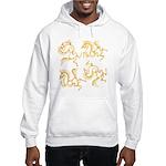 Golden Horses Batik Hooded Sweatshirt
