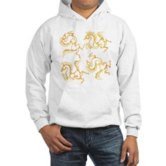 Golden Horses Batik Hoodie
