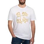 Golden Horses Batik Fitted T-Shirt