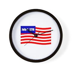 July 4 1776 Wall Clock