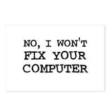 I Won't Fix Your Computer Postcards (Package of 8)