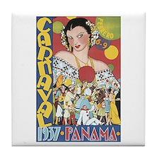 1937 Carnaval Panama Tile Coaster