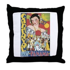 1937 Carnaval Panama Throw Pillow
