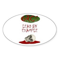 Orcs Lead By Example Oval Sticker (10 pk)