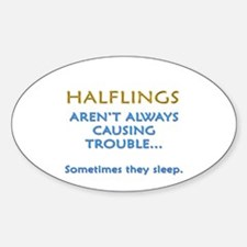 Troublesome Halflings Oval Decal