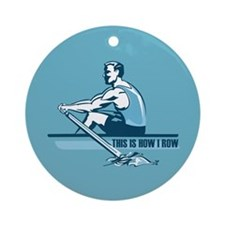 Rowing Crew Ornament (Round)