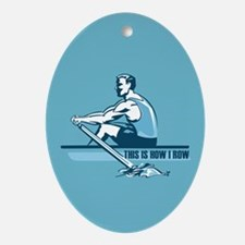 Rowing Crew Oval Ornament
