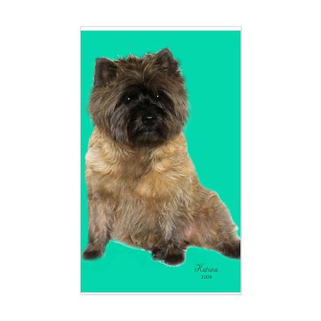 Cairn Terrier Birthday Sticker (Rectangle)