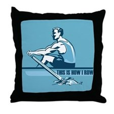 Rowing Crew Throw Pillow