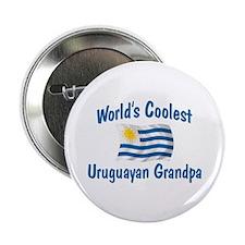 """Coolest Uruguayan Grandpa 2.25"""" Button"""