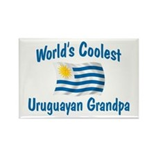 Coolest Uruguayan Grandpa Rectangle Magnet