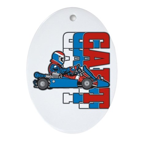 Ultimate Go Cart Oval Ornament