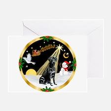 Night Flight/Labrador Retriever Greeting Card
