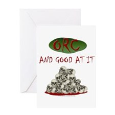 Orc and good at it Greeting Card