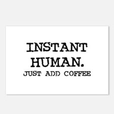 Instant Human. Just add Coffe Postcards (Package o