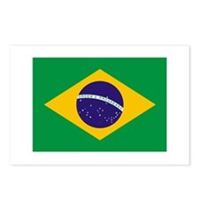 BRAZIL Flag of Brazil Postcards (Package of 8)