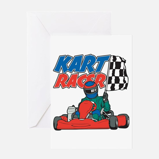 Kart Racer Greeting Card