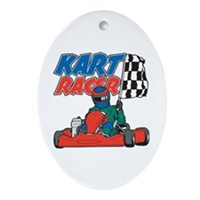 Kart Racer Oval Ornament