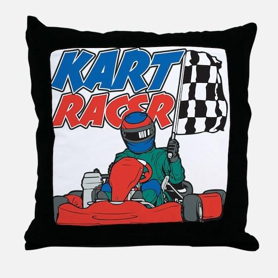 Kart Racer Throw Pillow