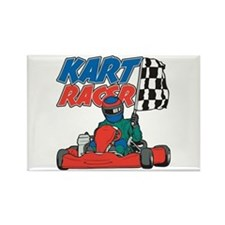 Kart Racer Rectangle Magnet
