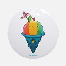 Kawaii Rainbow Shaved Ice Ornament (Round)