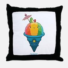 Kawaii Rainbow Shaved Ice Throw Pillow