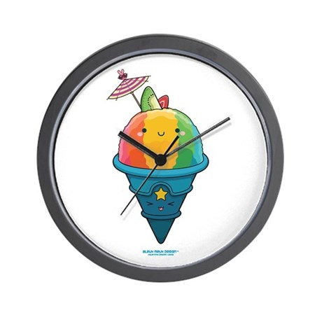 Kawaii Rainbow Shaved Ice Wall Clock