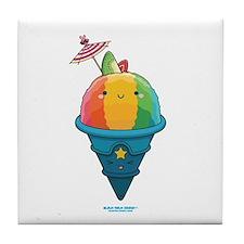 Kawaii Rainbow Shaved Ice Tile Coaster