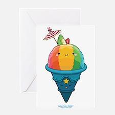 Kawaii Rainbow Shaved Ice Greeting Card
