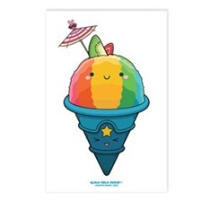 Kawaii Rainbow Shaved Ice Postcards (Package of 8)