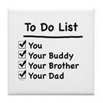 Her To Do List Tile Coaster