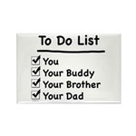 Her To Do List Rectangle Magnet