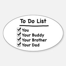Her To Do List Oval Decal