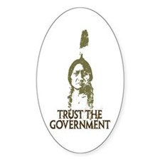 Trust the Government Oval Stickers