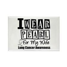 I Wear Pearl For My Wife Rectangle Magnet