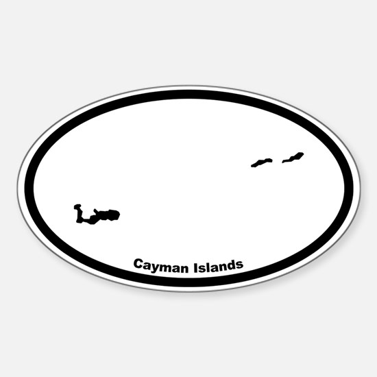 Cayman Islands Outline Oval Decal