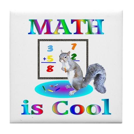 Math is Cool Tile Coaster