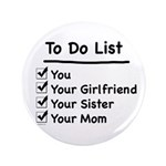"His to Do List 3.5"" Button"