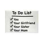 His to Do List Rectangle Magnet