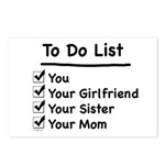 His to Do List Postcards (Package of 8)