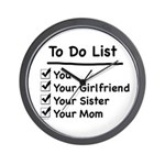 His to Do List Wall Clock