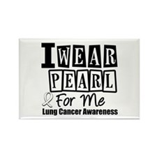 I Wear Pearl For Me LC Rectangle Magnet